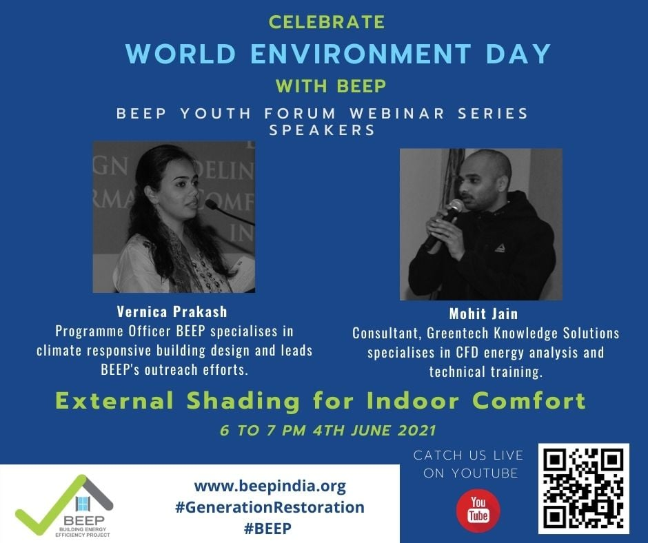 """Live session on """"External Shading for Indoor Comfort"""""""